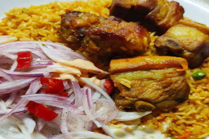 imagen de arroz con chancho peruano